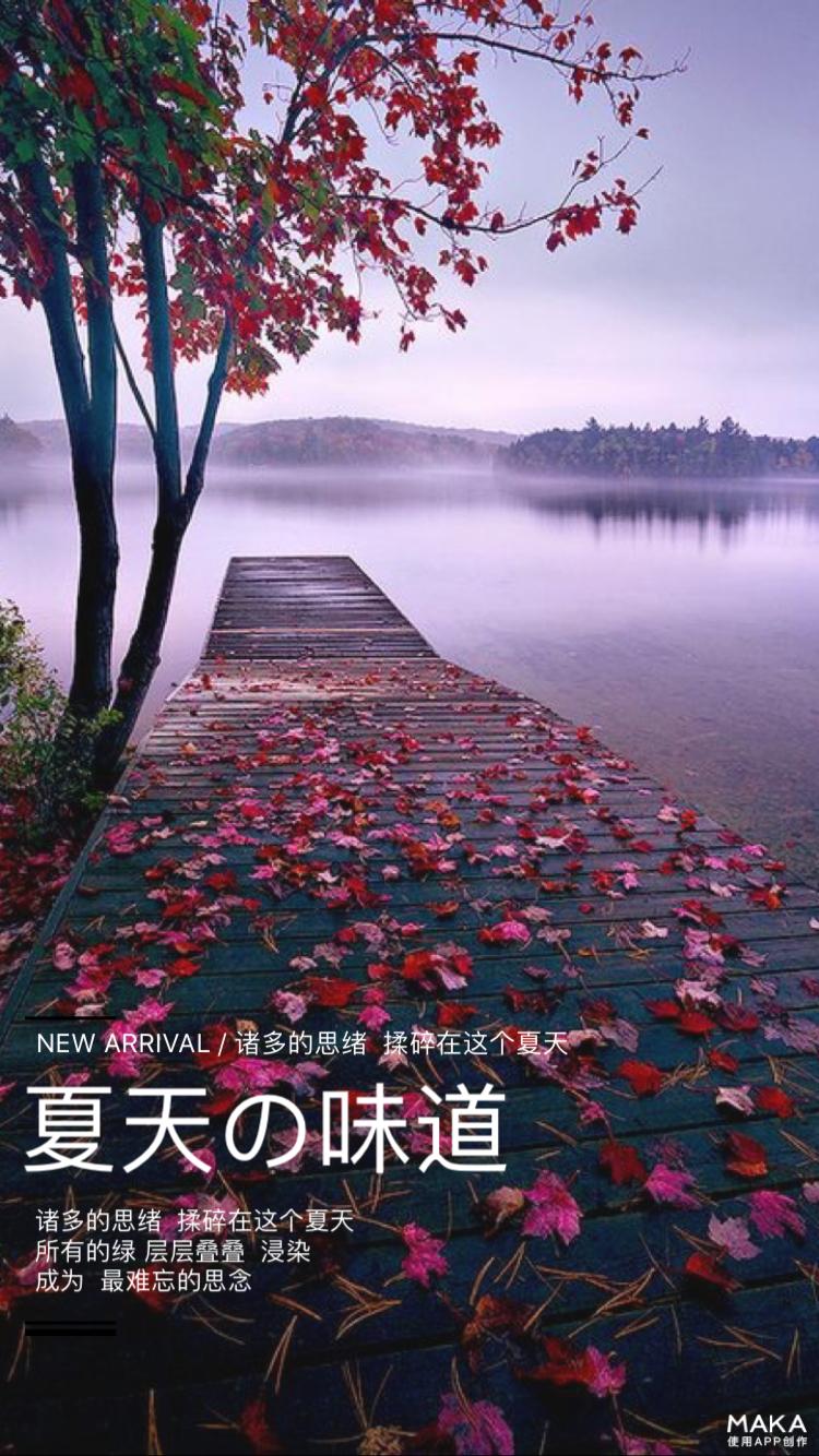 风景文艺海报
